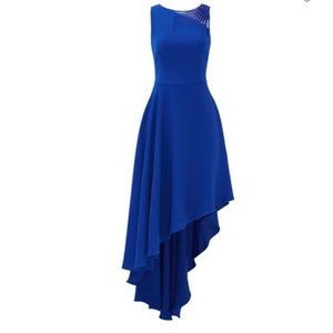Halston Heritage Indigo Lavelle Gown Size 4